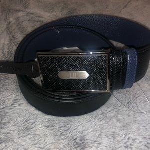 Dunhill Men's Black/Blue Reversible Belt Size 42